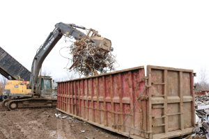 Scrap Container Being Loaded